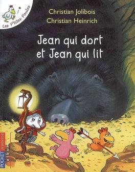 Couverture du livre : Les P'tites Poules : Jean qui dort et Jean qui lit