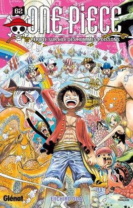 Couverture du livre : One Piece, Tome 62 : Périple sur l'île des hommes-poissons