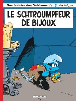 Couverture du livre : Les Schtroumpfs, tome 17 : Le Schtroumpfeur de bijoux