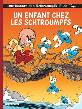 Couverture du livre : Les Schtroumpfs, Tome 25 : Un enfant chez les Schtroumpfs