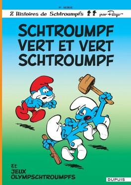 Couverture du livre : Les Schtroumpfs, Tome 9 : Schtroumpf vert et vert Schtroumpf