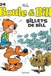 couverture Boule & Bill, tome 24 : Billets de Bill