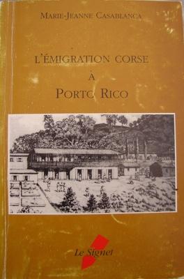 Couverture du livre : L'émigration corse à porto rico