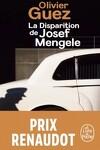 couverture La Disparition de Josef Mengele