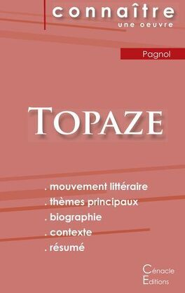 Couverture du livre : Topaze (Analyse)