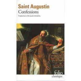Couverture du livre : Les confessions de Saint Augustin