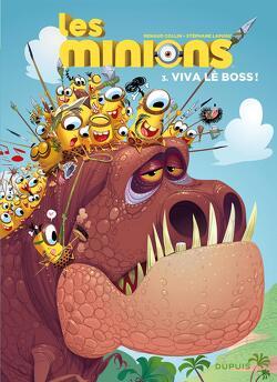 Couverture de Les Minions, Tome 3 : Viva lè boss !
