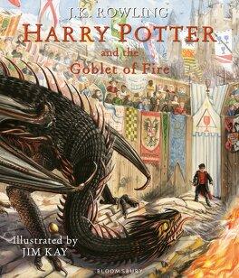 Couverture du livre : Harry Potter, Tome 4: Harry Potter et la coupe de feu (illustré)