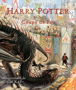 Couverture du livre : Harry Potter, Tome 4 : Harry Potter et la coupe de feu (Illustré)