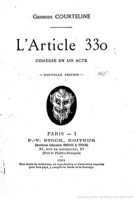 Couverture du livre : L'Article 330