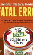 Fatal error : Le Meilleur des pires traductions