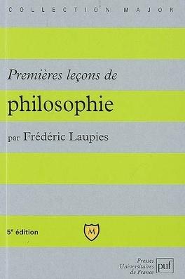 Couverture du livre : Premières leçons de philosophie