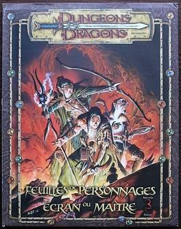 Couverture du livre : Dungeons & Dragons: Feuilles de personnages Ecran du maître3E ed