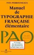 Manuel de typographie française élémentaire