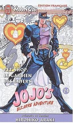 Couverture du livre : Jojo's bizarre adventure, tome 24 : Pet shop, les gardien des enfers