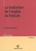 La traduction de l'anglais au français