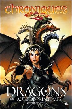 Couverture de Chroniques de Dragonlance, tome 3 : Dragons d'une aube de printemps - Seconde partie (Bd)