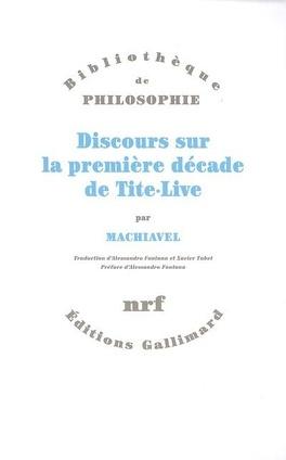 Couverture du livre : Discours sur la première décade de Tite-Live