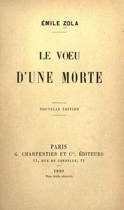 Couverture du livre : Le Vœu d'une morte