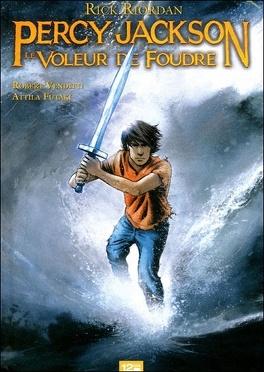 Couverture du livre : Percy Jackson, Tome 1 : Le Voleur de foudre (BD)