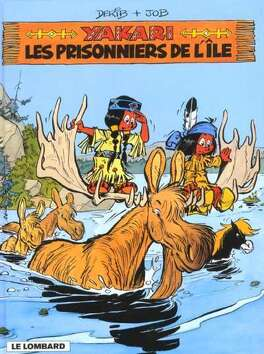 Couverture du livre : Yakari, tome 9 : Les Prisonniers de l'île