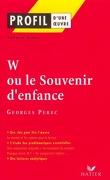 W ou Le souvenir d'enfance (1975), Georges Perec