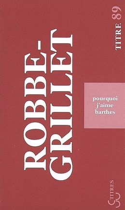 Couverture du livre : Pourquoi j'aime Barthes