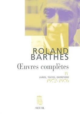 Couverture du livre : Oeuvres complètes : livres, textes, entretiens : Volume 4, 1972-1976