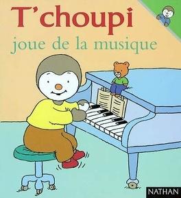Couverture du livre : T'choupi joue de la musique