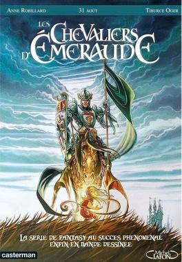 Couverture du livre : Les Chevaliers d'Emeraude, tome 1 : Les enfants magiques (BD)