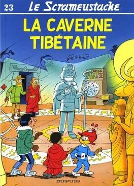 Couverture du livre : Le Scrameustache, tome 23 : La caverne tibétaine