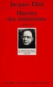 Histoire des institutions : Volume 1, L'Antiquité