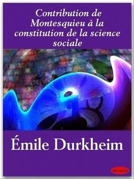 Couverture du livre : La contribution de Montesquieu à la constitution de la science sociale