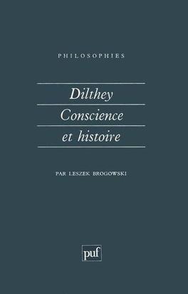 Couverture du livre : Dilthey, conscience et histoire