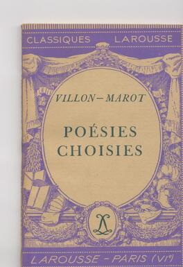 Couverture du livre : Poésies choisies : Villon -Marot