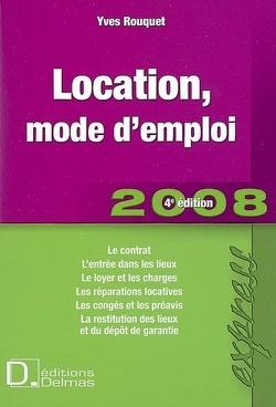 Couverture de Location, mode d'emploi