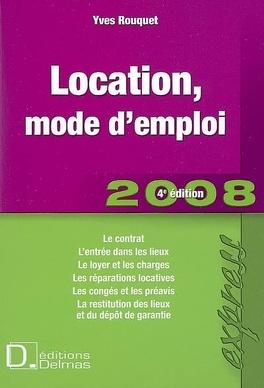 Couverture du livre : Location, mode d'emploi