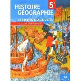 Histoire Geographie 5e 48 Fiches D Activites Livre De