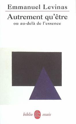 Couverture du livre : Autrement qu'être ou Au-delà de l'essence