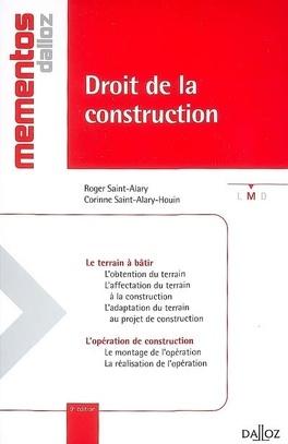Couverture du livre : Droit de la construction