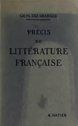 Couverture du livre : Précis de littérature française