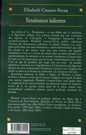 Couverture du livre : Renaissances italiennes, 1380-1500