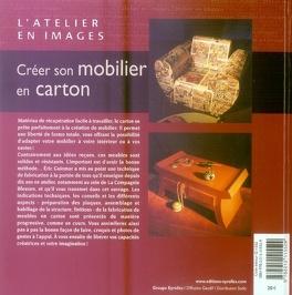 Couverture du livre : Créer son mobilier en carton