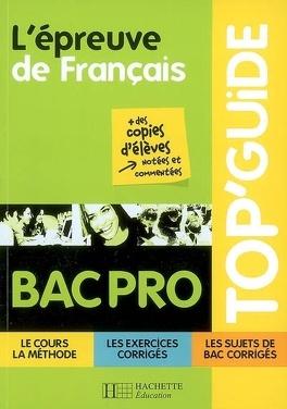 L Epreuve De Francais Bac Pro Livre De Jean Claude Landat