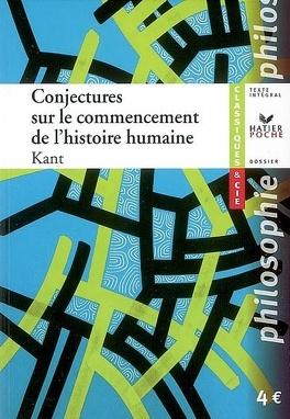 Couverture du livre : Conjectures sur le commencement de l'histoire humaine