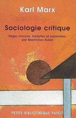Couverture du livre : Sociologie critique