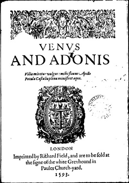 Couverture du livre : Vénus et Adonis