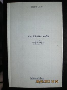 Couverture du livre : Les chaises vides