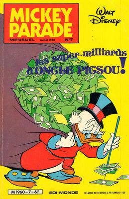 Couverture du livre : Mickey Parade, N° 7 : Les super-milliards d'Oncle Picsou !
