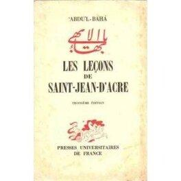 Couverture du livre : Les Leçons de Saint Jean d'Acre